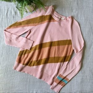 {Anthro} Moth Striped Retro Style Sweater